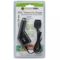 PowerMax Car Charger PPC006 12-24V>5V 2A for iPhone