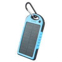Solar power bank 5000 mAh PB-016 blue