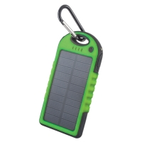 Solar power bank 5000 mAh PB-016 green