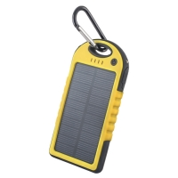 Solar power bank 5000 mAh PB-016 yellow
